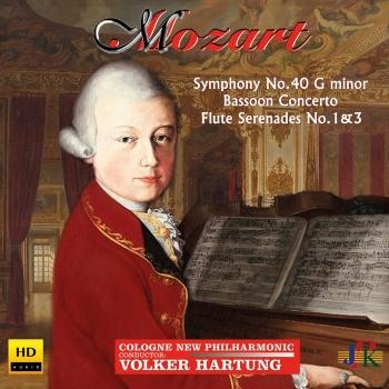 Cover Mozart: Symphony No. 40 in G Minor, Bassoon Concerto & Flute Serenades Nos. 1 & 3
