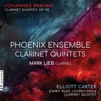 Cover Brahms & Carter: Clarinet Quintets