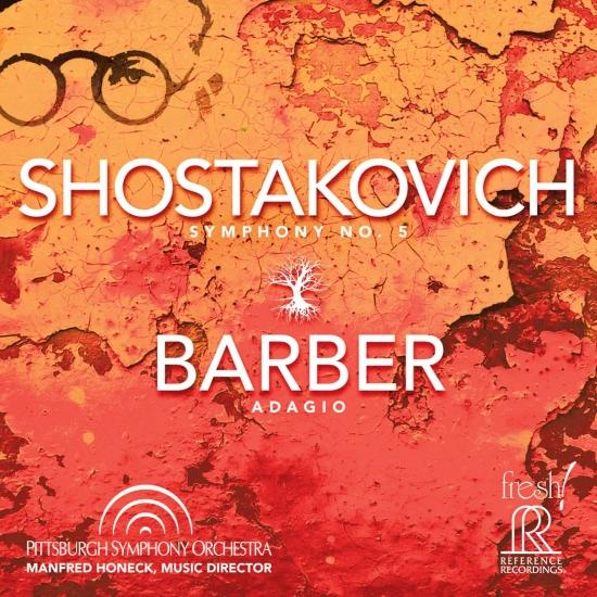 Cover Shostakovich: Symphony No. 5, Op. 47 - Barber: Adagio for Strings, Op. 11 (Live)