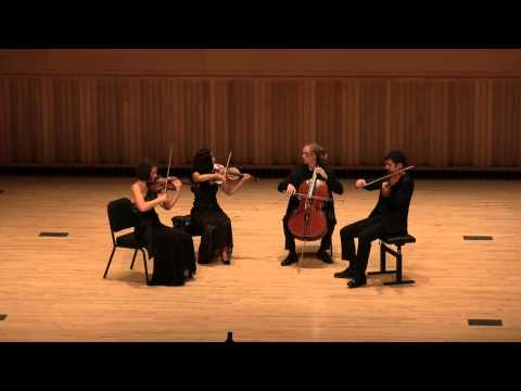 Video Chiara Quartet Plays Finale of Bartok 5th Quartet by Heart